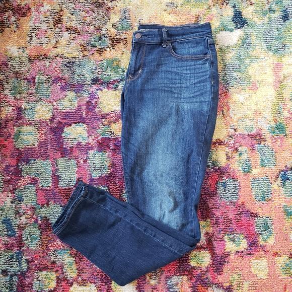 Old Navy Jeans curvy mid rise sz 12 dark wash jean